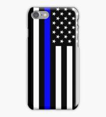 Police: Black Flag & Blue Line iPhone Case/Skin