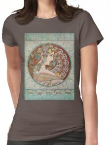Alphonse Mucha - Ivy, 1901 Womens Fitted T-Shirt
