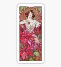 Alphonse Mucha - Ruby Sticker