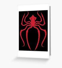 Navy: Spider-Man Squid Red Greeting Card