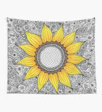 Sunflower Pattern Wall Tapestry