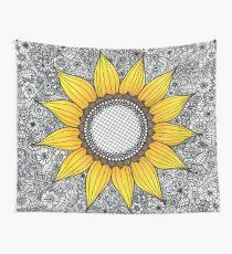 Sonnenblume-Muster Wandbehang