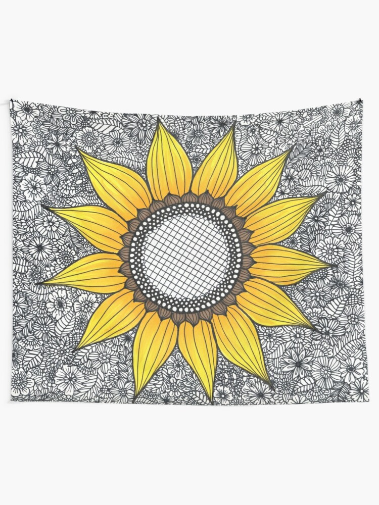 Alternate view of Sunflower Pattern Wall Tapestry