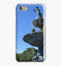 The Renaissance Fountain with Cranes iPhone Case/Skin
