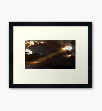 Heavenly Spotlight Framed Print