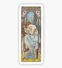 Alphonse Mucha - Nocturnal Slumber Sticker