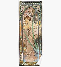 Alphonse Mucha - Evening Reverie Poster