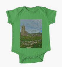 Glencolmcille Panorama with Church One Piece - Short Sleeve