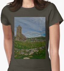 Glencolmcille Panorama with Church Women's Fitted T-Shirt
