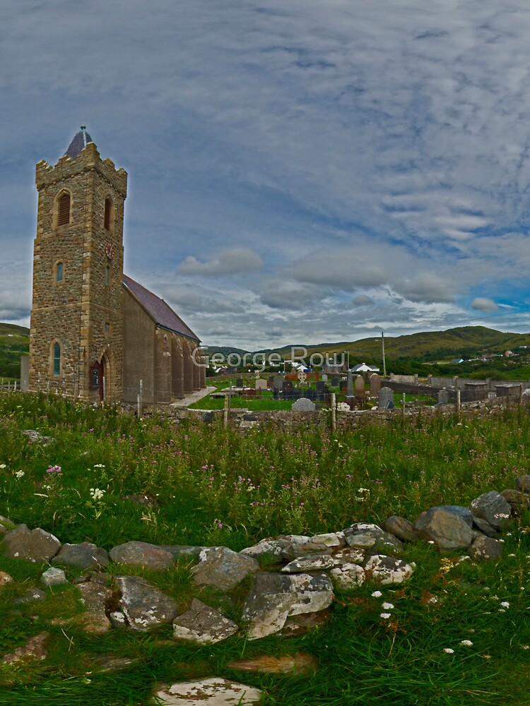 Glencolmcille Panorama with Church by VeryIreland