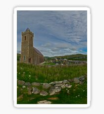 Glencolmcille Panorama with Church Sticker