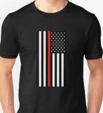 Firefighter: Black Flag & Red Line Unisex T-Shirt