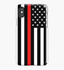 Firefighter: Black Flag & Red Line iPhone Case/Skin