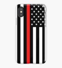 Firefighter: Black Flag & Red Line iPhone Case