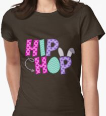 Hip Hope Easter Womens Fitted T-Shirt