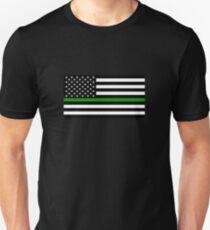 U.S. Flag: Thin Green Line Unisex T-Shirt
