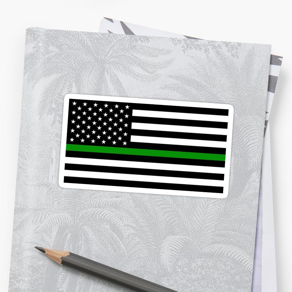 U.S. Flag: Thin Green Line by MilitaryCandA