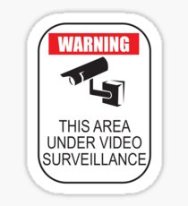 Warning Sign: This Area Under Video Surveillance Sticker