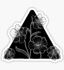 Flower Through Disarray Sticker