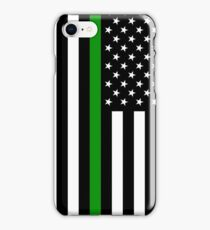 U.S. Flag: Thin Green Line iPhone Case/Skin