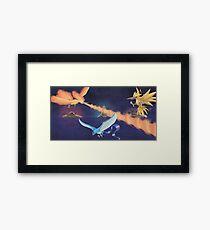 Moltres, Articuno & Zapdos - The Legendary Birds Framed Print