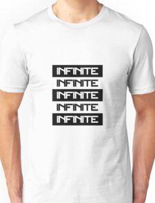 Infinite - Black and White Unisex T-Shirt