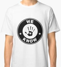 Skyrim - 'We Know' Dark Brotherhood Hand Print Classic T-Shirt