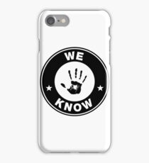 Skyrim - 'We Know' Dark Brotherhood Hand Print iPhone Case/Skin