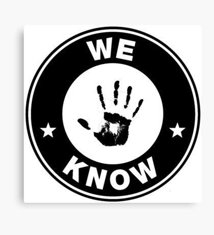 Skyrim - 'We Know' Dark Brotherhood Hand Print Canvas Print