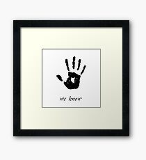 Skyrim - 'We Know' Dark Brotherhood Hand Print Framed Print