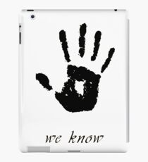 Skyrim - 'We Know' Dark Brotherhood Hand Print iPad Case/Skin