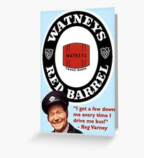Watney's Red Barrel - Reg Varney Advert Greeting Card