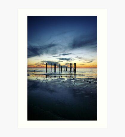 Twilight at Port Willunga Art Print