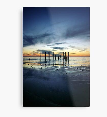 Twilight at Port Willunga Metal Print