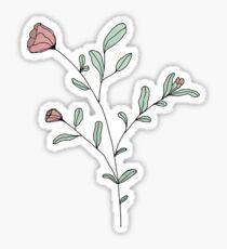 Tulip (With colour) Sticker