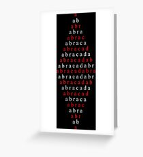 Spell Abracadabra Greeting Card
