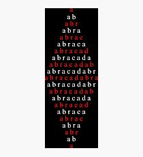 Spell Abracadabra Photographic Print