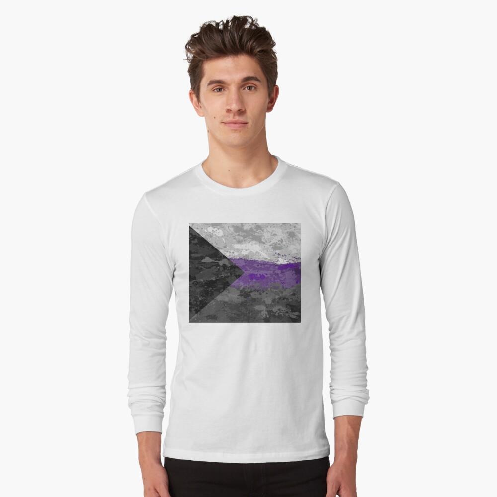 Demisexual Paint Splatter Flag Long Sleeve T-Shirt