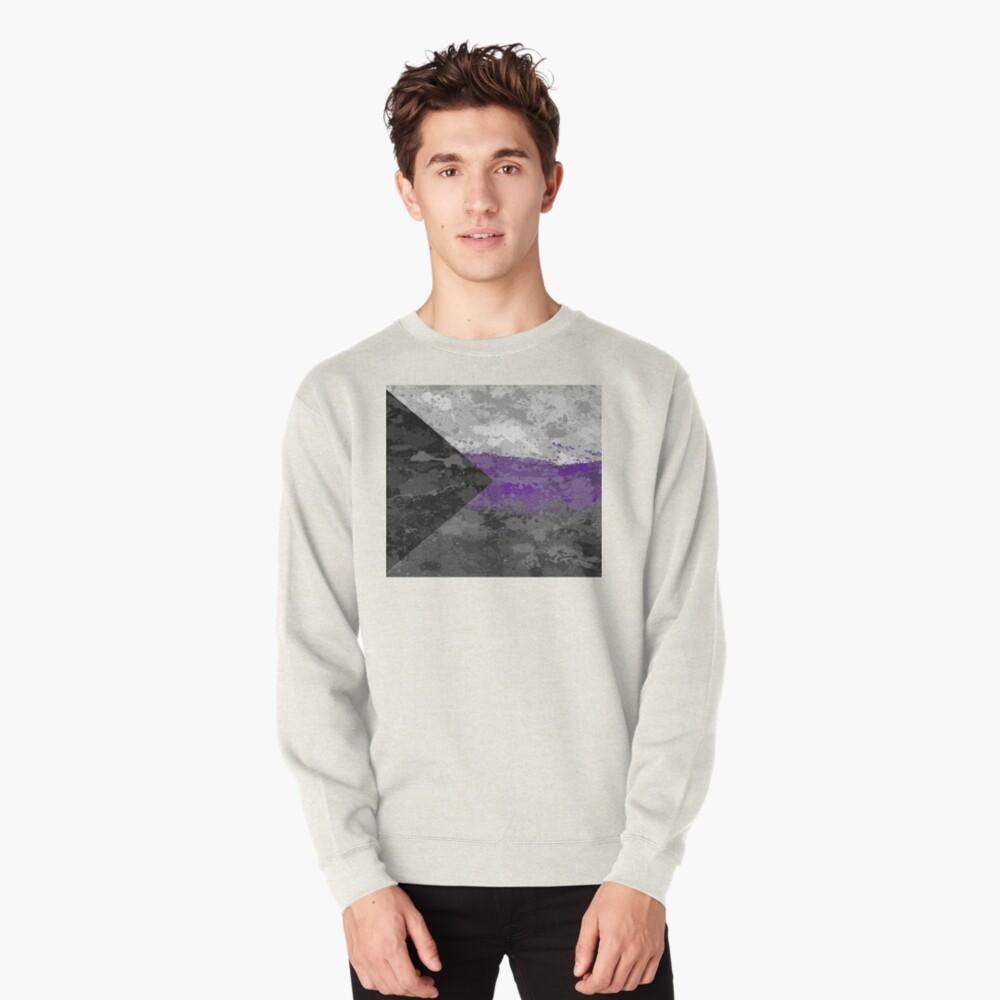 Demisexual Paint Splatter Flag Pullover Sweatshirt