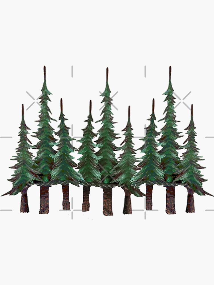 Los árboles de hoja perenne de NINUNO