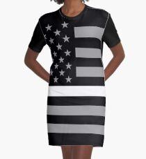 U.S. Flag: Thin White Line Graphic T-Shirt Dress