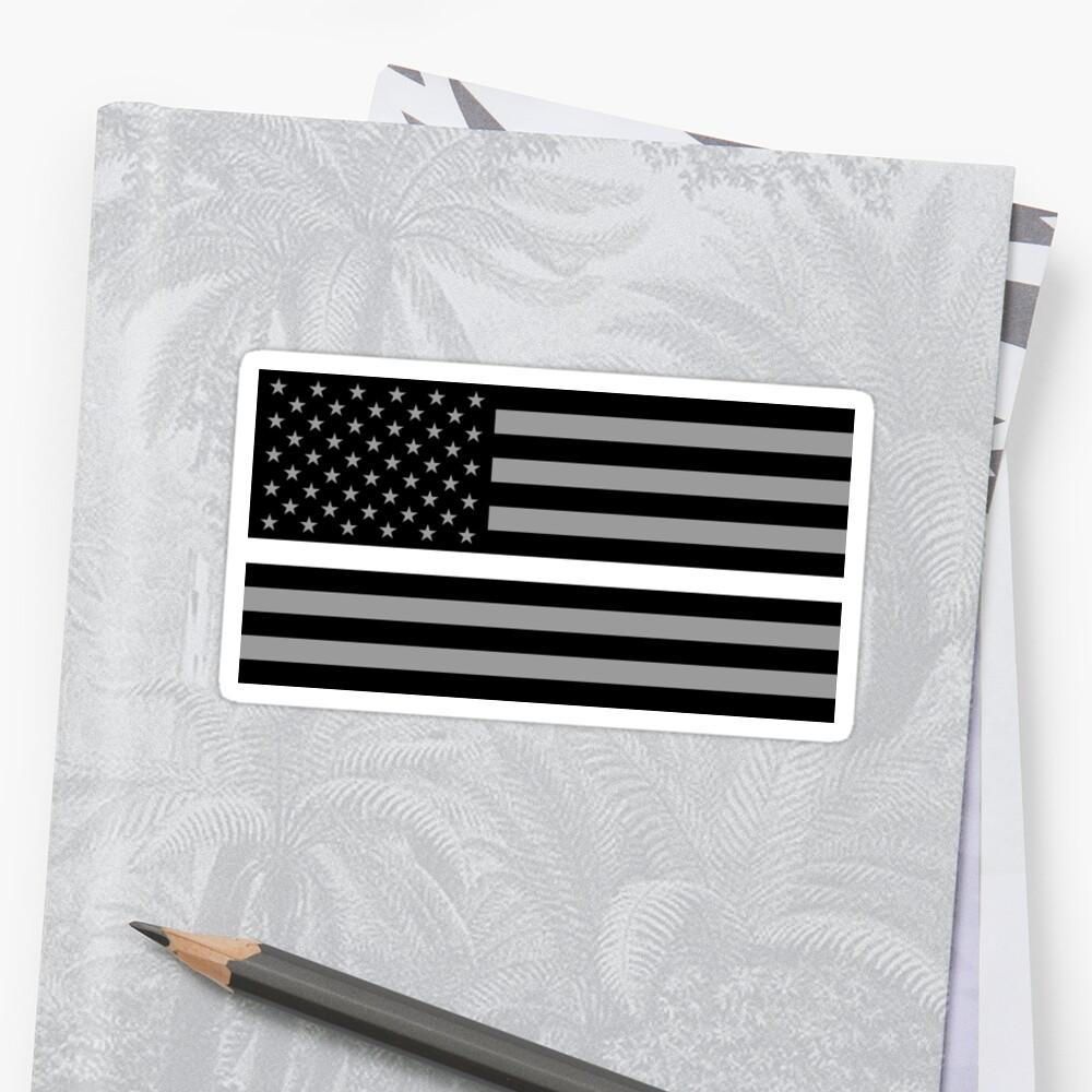 U.S. Flag: Thin White Line Sticker