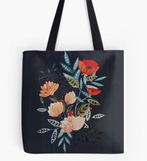 Midnight Bouquet Tote Bag