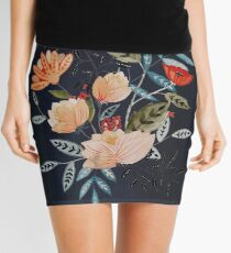 Midnight Bouquet Mini Skirt