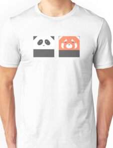 Square Giant Panda and Red Panda Unisex T-Shirt