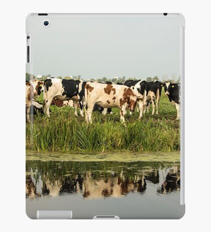 Cows and their reflective image iPad Case/Skin