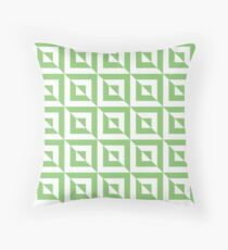 Light Green / Pistachio Geometric Square Pattern Throw Pillow
