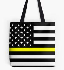 U.S. Flag: Thin Yellow Line Tote Bag