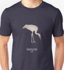 Whooping crane - Endangered and extinct species (dark background) Slim Fit T-Shirt