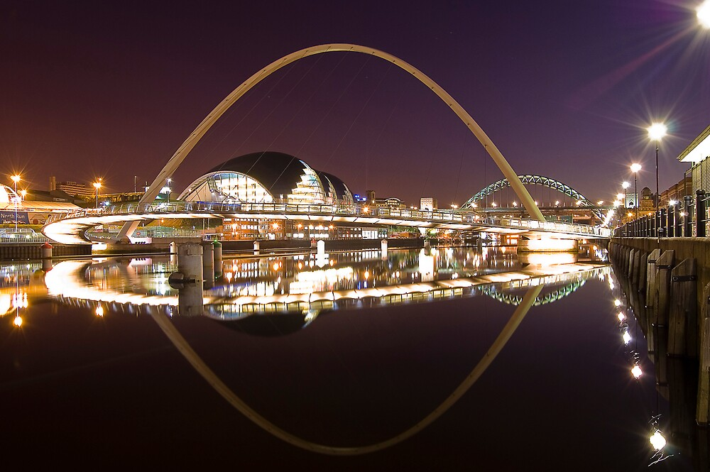 River Tyne at Night by Martyn Robertshaw